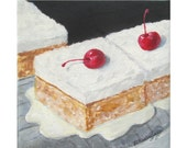 Reserved For Elizabeth *TRES LECHES Cake * Original Painting On Canvas