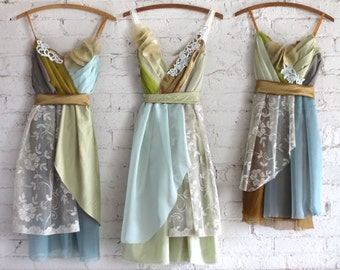 Custom Woodland Fairy Bridesmaids Dresses