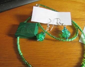 green stone jewelry