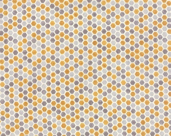 Bee Creative Grey Gold Honey Comb 19757 14 | Deb Strain Designer | Moda Quilting fabric