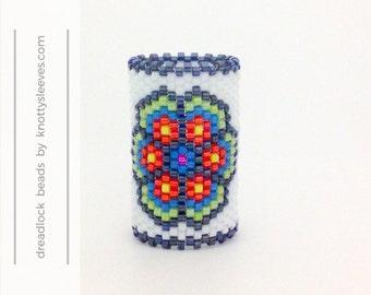 Dreadlock Bead Dread Accessory Hair Jewelry Peyote Stitch Dread Sleeve Flower Mandala 2
