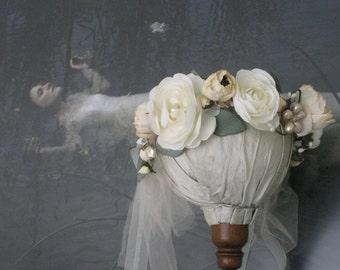 Flower Crown, Boho Flower Crown,Floral Crown, Garden Floral Wreath, Floral Wreath,Flower Wreath, Garden Wedding, Boho Headpiece,