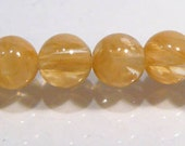 MM Rutilated Quartz Glass Smooth Round Beads.....6mm...12 Beads