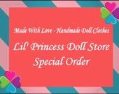 Reserved Listing For Kristina Karsten, 2 Items Made For American Girl Dolls