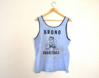"1970's ""Notre Dame"" Basketball Ringer Jersey"