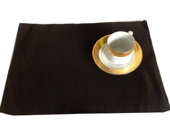Gift Idea, Black Kitchen Decor Table Linen Gifts House Warming Place mats Black Place Mats Table Mats
