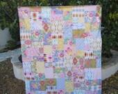 Jennifer Paganelli Nostalgia Large Patchwork and Minky Blanket