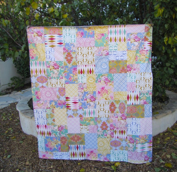 Jennifer Paganelli Nostalgia Large Patchwork and Minky Blanket
