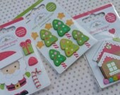 Doodlebug Doodle Pops - Christmas Stickers - Scrapbook Project Life - Set of 3 Packages