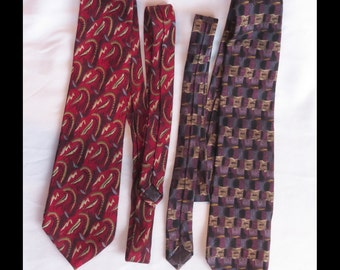 2 Jerry Garcia Ties Silk Megaliths Plant Person