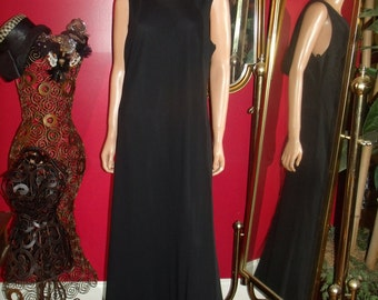 Vintage Black DressFlapper   Tea Party 20 Theme  Size 14W