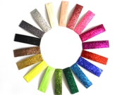 RESERVED 6 MINI Glitter Snap Clips