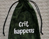 Dungeons and Dragons CRIT HAPPENS game dice bag