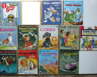 Little Golden Books Vintage Lot of 12  1952-1981