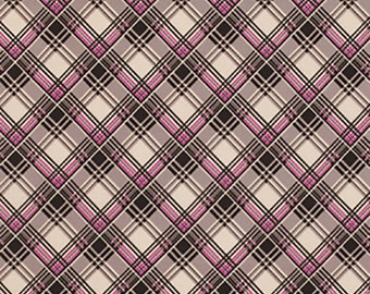 Fabric Listing -Denyse Schmidt - Ansonia - Corner Plaid in Mushrom - Denyse Schmidt Fabric by the Yard - Quilter's Cotton