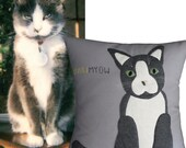 Pet Pillow, Custom Pet Pillow, Cat Pillow, Pet Portrait, Dog Pillow, Custom Dog Pillow, Pet Pillows, Custom Pets, Pet Portrait Pillow