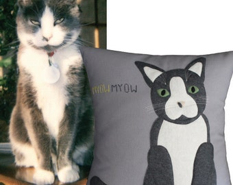 Pet Pillow, Custom Pet Pillow, Cat Pillow, Pet Portrait, Dog Pillow, Custom Dog Pillow, Pet Pillows, Custom Pets, Pet Portrait Pillow