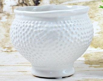 White Cachepot - Cachepot - Cache Pot - White Vase - Decorative Cache Pot - Succulent Planter - Fixer Upper Style