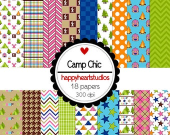 Digital Scrapbook  CampingChic-INSTANT DOWNLOAD
