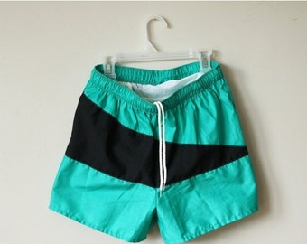 ON SALE Deadstock, 1980s Slash Surf Shorts >>> Men's Extra Small to Small >>> Boy's Size Large to Extra Large