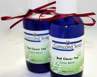 Red Clover Tea Handmade Room and Linen Water Spray - scented, body spray, potpourri, herbal, fragrance, cobalt blue glass