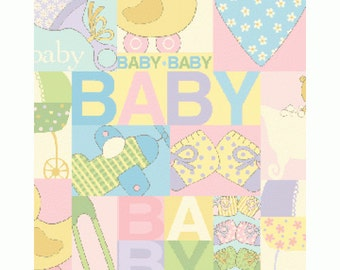 Clearance FABRIC BABY TALK Printed Patchwork 1/2 Yard