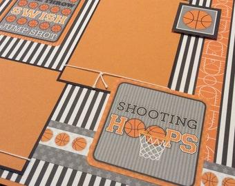 Basketball Scrapbook Layout Page, Shooting Hoops, Basketball Album Page, Jump Shot, Dribble, High School Basketball, Youth Basketball Page