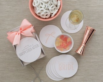 Letterpress Boxed Bridal Coaster Set
