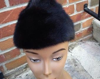 Fur Mink Pinup Style Winter Hat