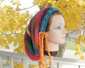 Reserved Listing - Large Crochet Rasta Tam for Long Dreads Dreadlocks Sock Hat