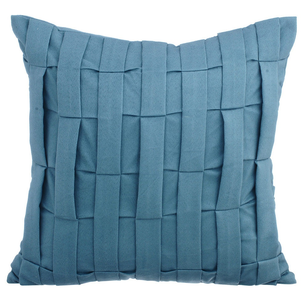 Dull Blue Couch Sofa Cushion Covers 16 X 16 Pillow Covers Blue