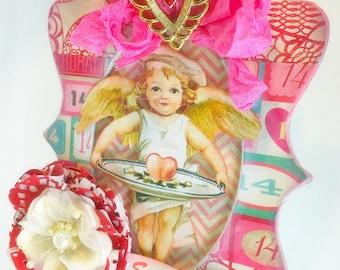 Valentine's Day Handmade Vintage Holiday Decoration Hanging Ornament