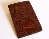 Leather Passport Case Wallet with Wood Grain Design - For U.S. and Canada Passports