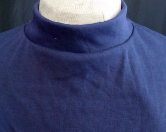 Mock Turtle Neck Dickey Tracheostomy Stoma Covers - unlined - custom neck size