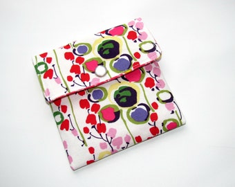 Sale Mini wallet, Mini Pouch, Gift card Holder, Credit Card Holder, Loyalty card case, business card case wallet Market Floral Ready to Ship