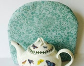 TEA COSY, Mothers Day gift, Dome SyleTea Cosy, Traditional English Tea Cosy, Insulated Tea Cosy, Tea Cozy. Mint Green print