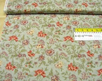 Moda • Fabrics • Hyde Park • Floral Cornflower aqua • cotton fabric 0.54yd (0,5m) 002348