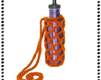 Orange Water Bottle Sling, Beverage Holder