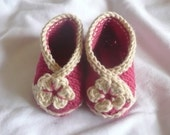 Knitting Pattern Baby Shoes Booties - Baby Crossover Shoes - 3 Sizes Newborn - 12 Mths