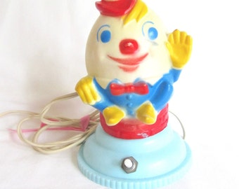 Rare Vintage Humpty Dumpty Children's Lamp Night Light 1940s
