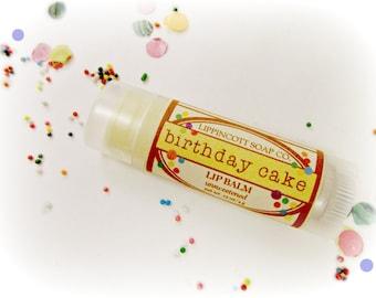Birthday Cake Lip Balm, Beeswax Lip Balm, Unsweetened Lip Balm, Vanilla Cake Lip Balm, Birthday Gift, Birthday Party Favor