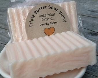 Soap Triple Butter Cocoa Butter, Shea Butter, Mango Butter - PEACH