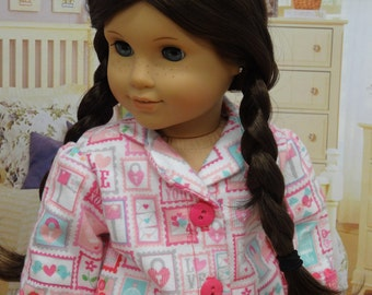 Pajamas for American Girl doll - Love Letters