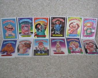 Garbage Pail Kids Card Stickers Vintage Twelve 12