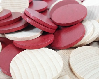 """supply 85 1 1/2"""" Wood Circle Discs supply wooden chips"""
