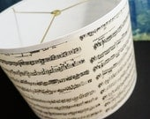 drum lamp shade black and white music print