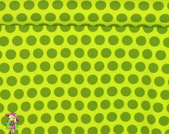 Green pixie  dots 1 yard cotton lycra knit