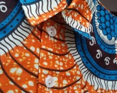 Baby boy's shirt in a distinctive Ankara print