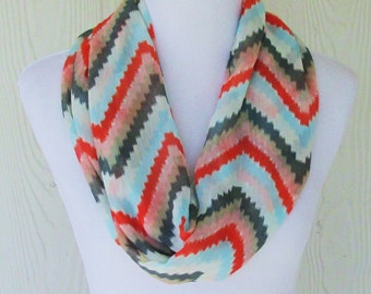 Infinity Scarf, Chevron Scarf, Women's Fashion, Circle Scarf, Loop Scarf, Tube Scarf, Women's Scarves, Eclectasie