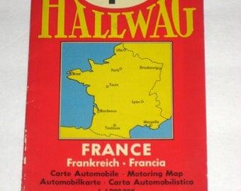 Vintage  Hallwag Map of France